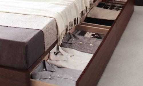 収納ベッド引き出しのほこり